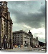 #liverpool #sky #clouds #buildings Acrylic Print