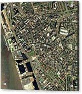 Liverpool, Uk, Aerial Image Acrylic Print