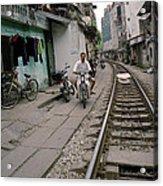 Living By The Tracks In Hanoi Acrylic Print
