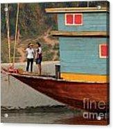 Living On The Mekong Acrylic Print