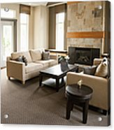 Living Room In An Upscale Home Acrylic Print