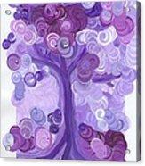 Liz Dixon's Tree Purple Acrylic Print