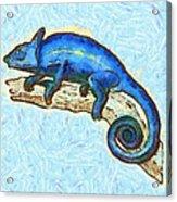 Lizzie Loved Lizards Acrylic Print by Nikki Marie Smith