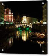 Ljubljana By Night Acrylic Print
