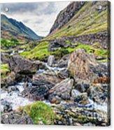 Llanberis Pass Acrylic Print by Adrian Evans