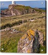 Llanddwyn Rock Acrylic Print