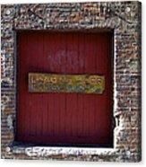 Loading Dock Door Acrylic Print