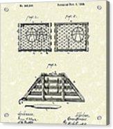 Lobster Trap 1888 Patent Art Acrylic Print