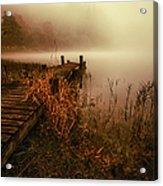 Loch Ard Early Morning Mist Acrylic Print by John Farnan