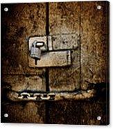 Locked Door Acrylic Print by Bobbi Feasel