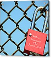 Locked Together Forever Acrylic Print
