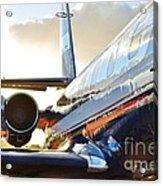 Lockheed Jet Star Side View Acrylic Print by Lynda Dawson-Youngclaus