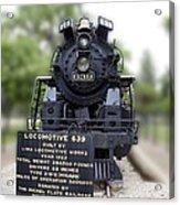 Locomotive 639 Type 2 8 2 Front View Acrylic Print
