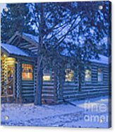 Log Cabin Library 1 Acrylic Print by Jim Wright