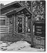 Log Cabin Library 11 Acrylic Print