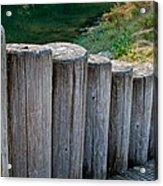 Log Handrail Acrylic Print