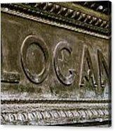 Logan Circle Acrylic Print