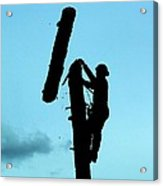 Logger Silhouette Acrylic Print