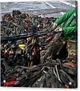 Logistics Specialist Wraps Cargo Nets Acrylic Print