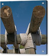 Logs Tied With Rope Acrylic Print
