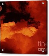 Lomo Moon And Clouds Acrylic Print