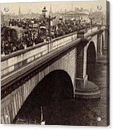 London Bridge - England - C 1896 Acrylic Print by International  Images
