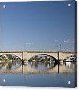 London Bridge And Reflection Acrylic Print