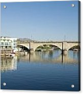 London Bridge And Reflection II Acrylic Print