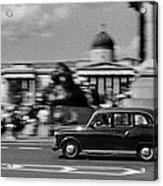 London Cab In Trafalgar Square Acrylic Print