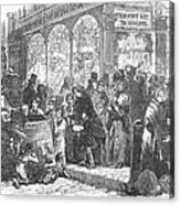 London: Christmas, 1866 Acrylic Print