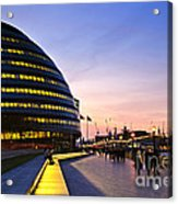 London City Hall At Night Acrylic Print