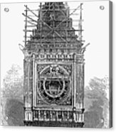 London: Clock Tower, 1856 Acrylic Print