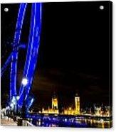 London Eye And London View Acrylic Print