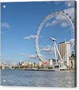 London Eye Acrylic Print by Paul Biris