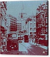 London Fleet Street Acrylic Print by Naxart Studio