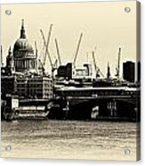 London From The Southbank Acrylic Print