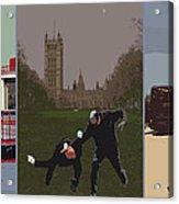 London Matrix Triptych Acrylic Print by Jasna Buncic