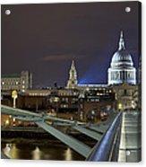 London Millennium Bridge Acrylic Print