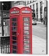 London Phone Box Acrylic Print