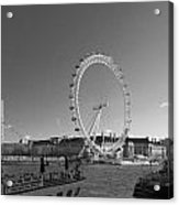 London Skyline Edf Eye Bw Acrylic Print