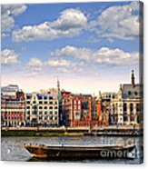 London Skyline From Thames River Acrylic Print
