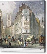 London: Street Scene, 1830 Acrylic Print