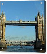 London Tower Bridge Looking Magnificent In The Setting Sun Acrylic Print