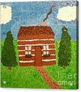 Lone Log Cabin Acrylic Print