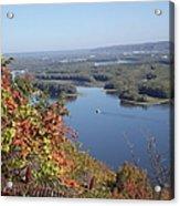 Lone River Boat Acrylic Print