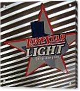 Lone Star Beer Light Acrylic Print