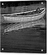 Lone White Boat In Nova Scotia Acrylic Print