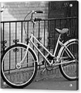 Lonely Bike In Black And White Acrylic Print
