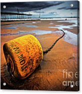 Lonely Yellow Buoy Acrylic Print