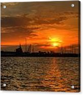 Long Beach Harbor Sunrise Acrylic Print